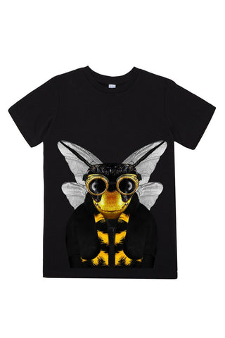 kids bee t shirt black