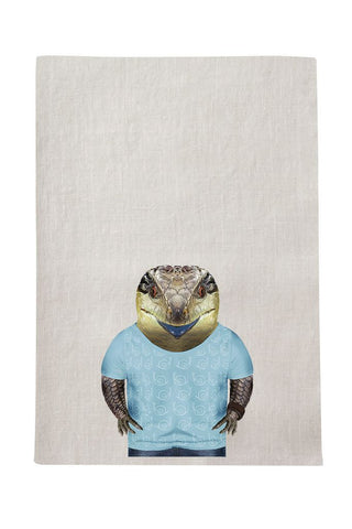 Blue Tongue Lizard Tea Towel