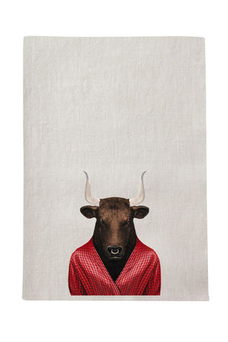 Bull Tea Towel
