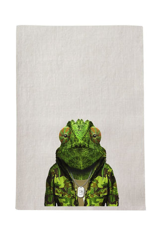 Chameleon Tea Towel