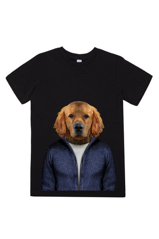 kids retriever t shirt black