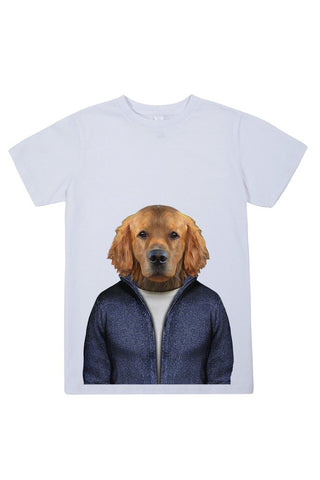 kids retriever t shirt white