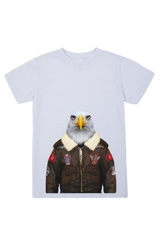 kids eagle t shirt white