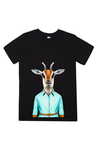 kids gazelle t shirt black