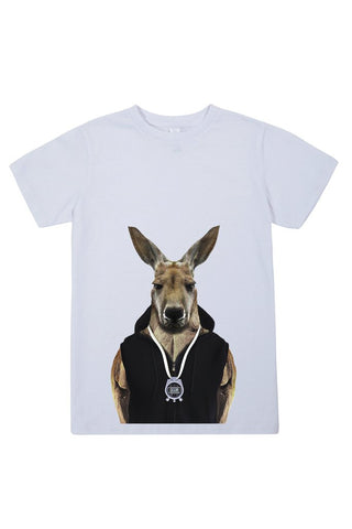 kids kangaroo t shirt white