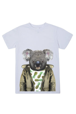 kids koala t shirt white