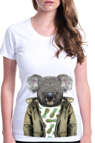 women's koala t-shirt white