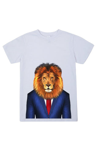 kids lion t shirt white
