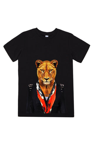 kids lioness t shirt black