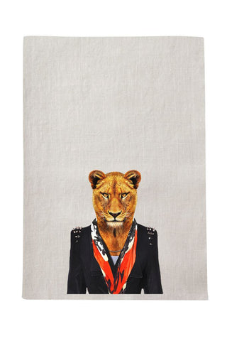 Lioness Tea Towel