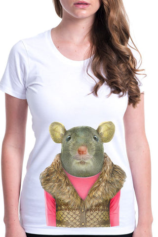 women's mouse t-shirt white