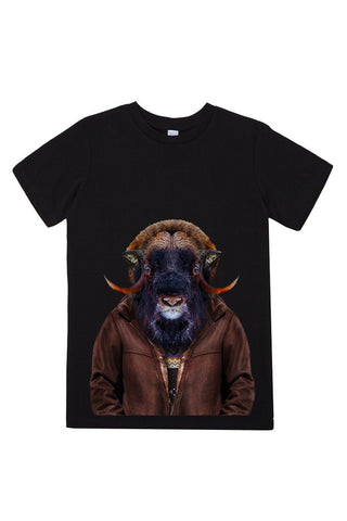 kids ox t shirt black