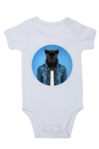 male panther - baby grow