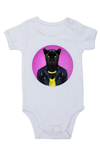 female panther - baby grow