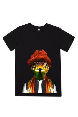 kids snake t shirt black