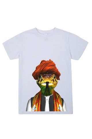 kids snake t shirt white