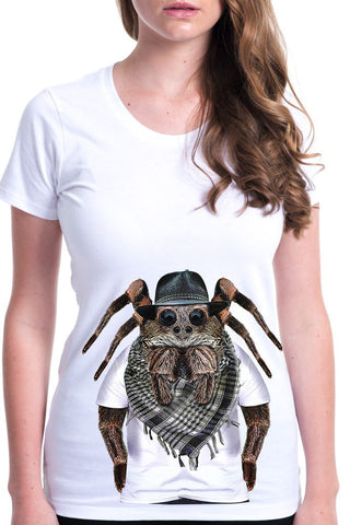 women's spider t-shirt white