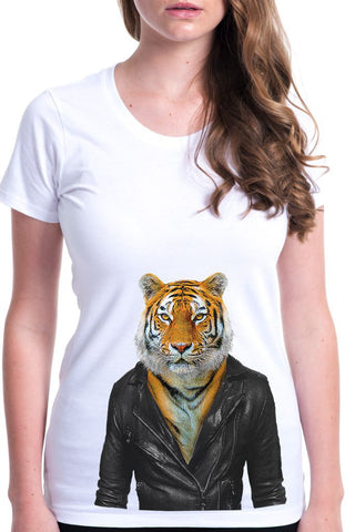 women's tiger t-shirt white