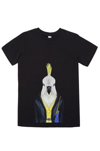 Kids Cockatoo T-Shirt - Kid's Tee, Black