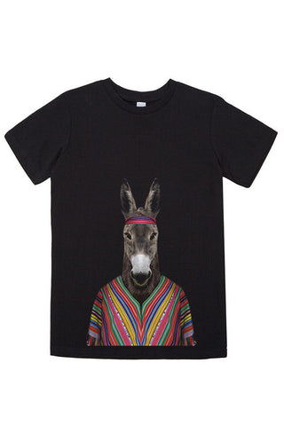 Kids Donkey T-Shirt - Kid's Tee, Black