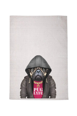 Pug Lyfe Tea Towel