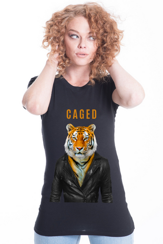 Caged Tiger Women's Fitted Tee