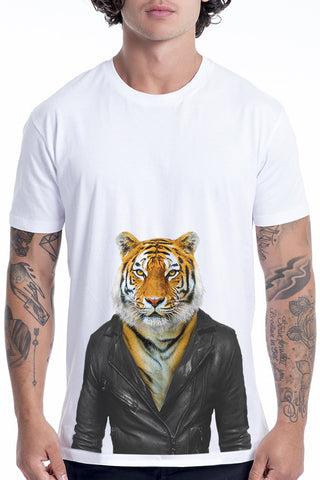 Men's Tiger T-Shirt - Classic Tee, White