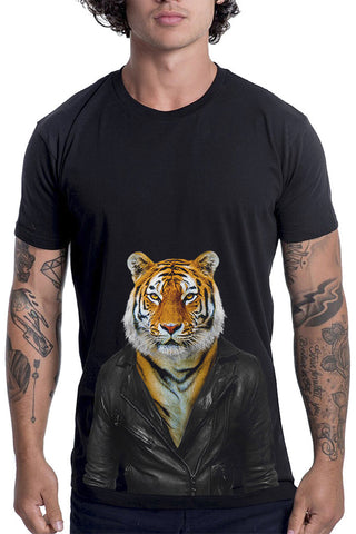 Men's Tiger T-Shirt - Classic Tee, Black