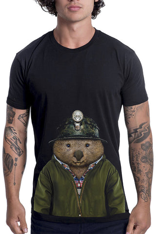 Men's Wombat T-Shirt - Classic Tee, Black