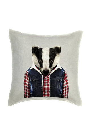 Badger Cushion Cover - Linen