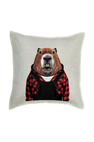 Beaver Cushion Cover - Linen