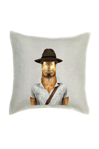 Camel Cushion Cover - Linen