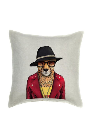 Cheetah Cushion Cover - Linen