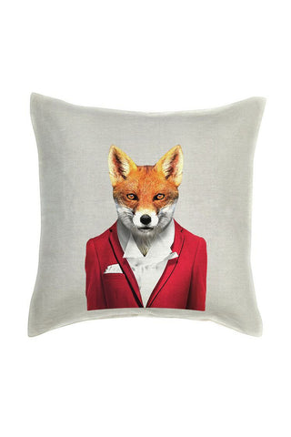 Fox Cushion Cover - Linen