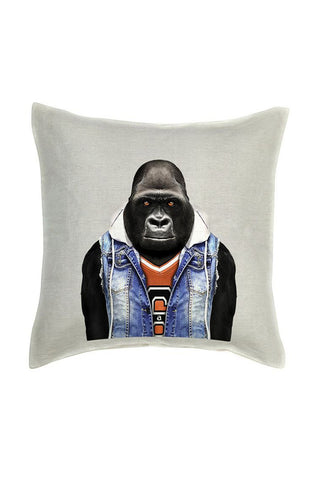 Gorilla Cushion Cover - Linen