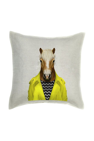 Horse Cushion Cover - Linen