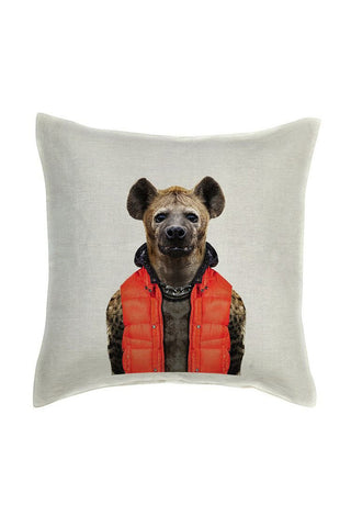 Hyena Cushion Cover - Linen