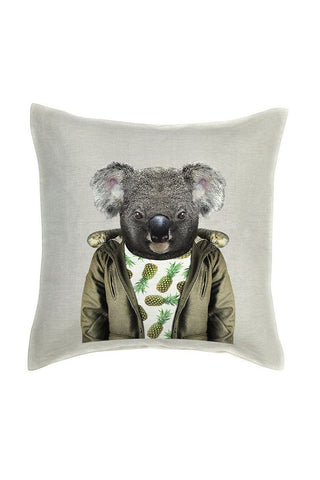 Koala Cushion Cover - Linen