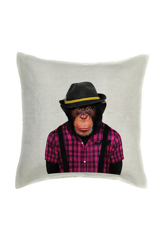 Monkey Male Cushion Cover - Linen