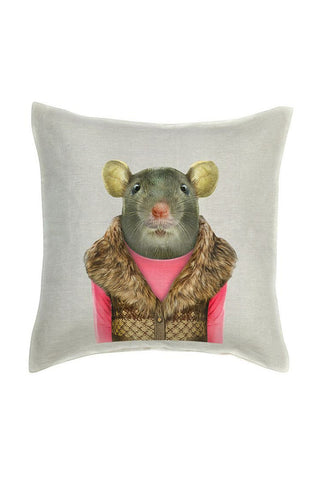 Mouse Cushion Cover - Linen