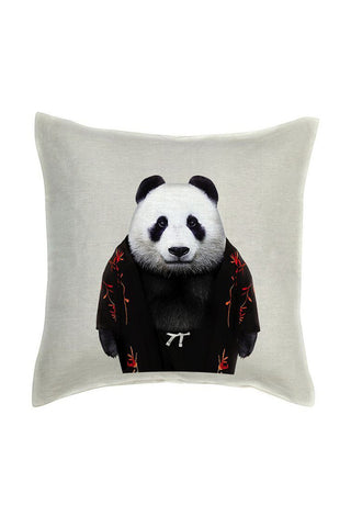 Panda Cushion Cover - Linen