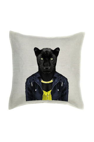 Panther Female Cushion Cover - Linen