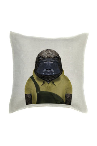 Platypus Cushion Cover - Linen