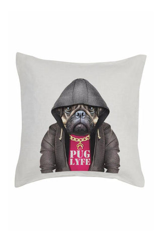 Pug Lyfe Cushion Cover - Linen