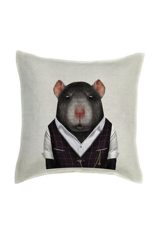 Rat Cushion Cover - Linen