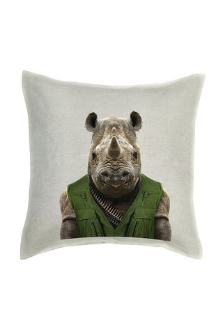 Rhino Cushion Cover - Linen