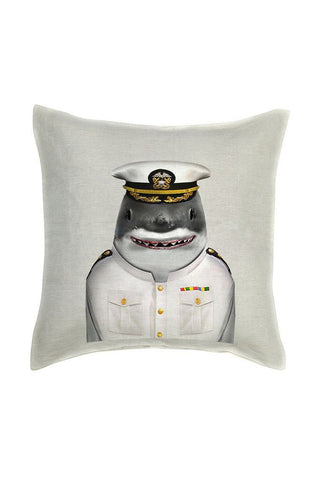Shark Cushion Cover - Linen