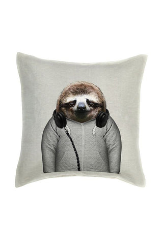 Sloth Cushion Cover - Linen