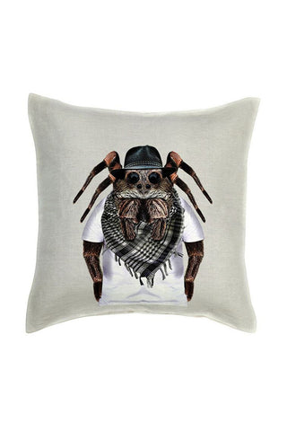 Spider Cushion Cover - Linen