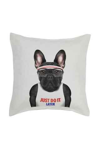 Frenchie Cushion Cover - Linen